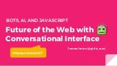 Future of the Web with Conversational Interface