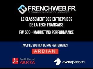 Classement FW500 des sociétés de Marketing Performance