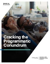 FWCE Cracking the Programmatic Conundrum White Paper