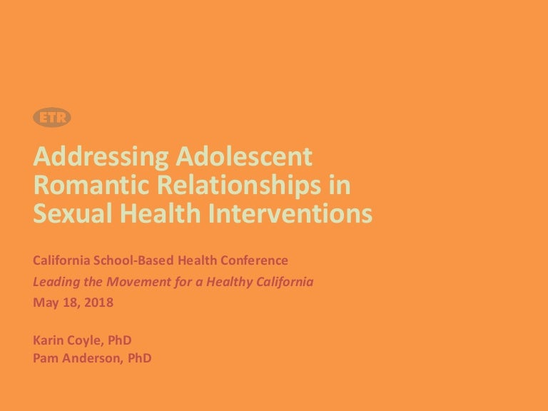 Addressing Adolescent Romantic Relationships in Sexual