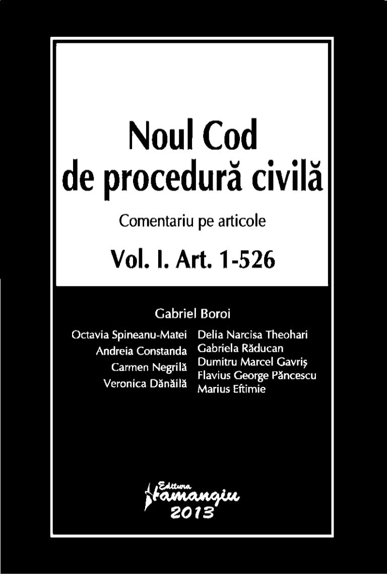 Noul cod civil comentat pdf