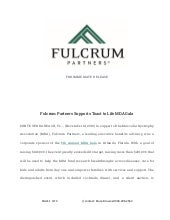 Fulcrum Partners Supports Toast to Life MDA Gala