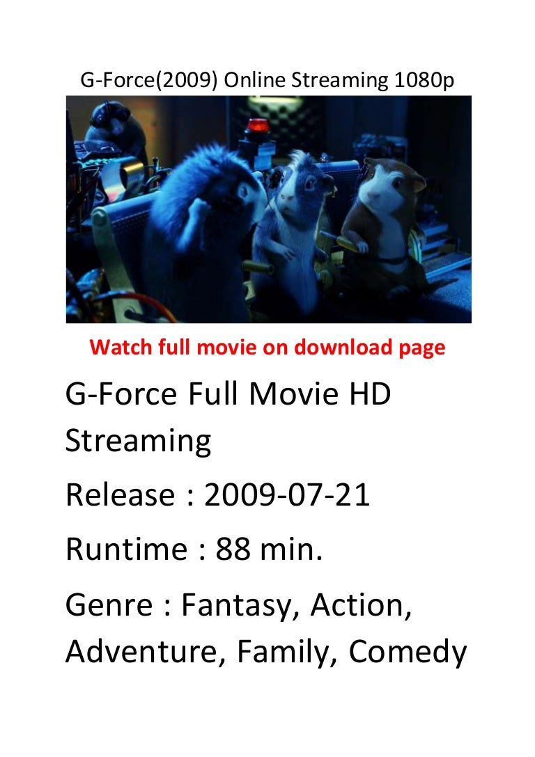 G Force 2009 Online Streaming 1080p Hollywood Comedy Action Movies L