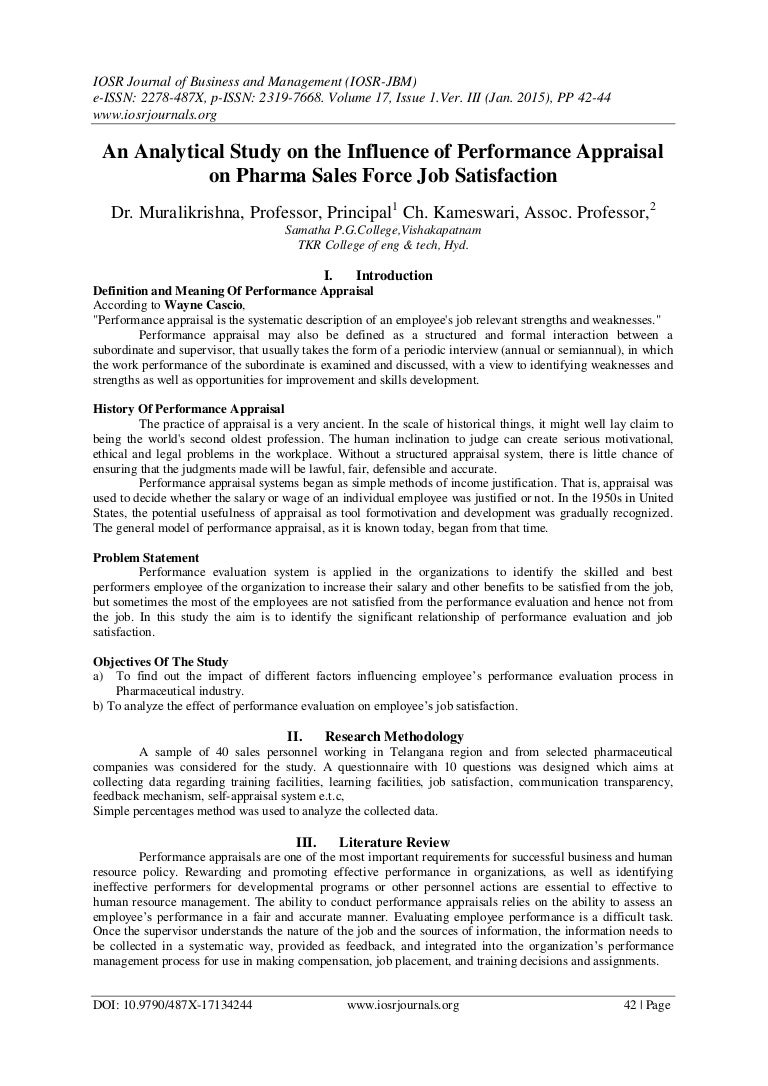 Job satisfaction paper