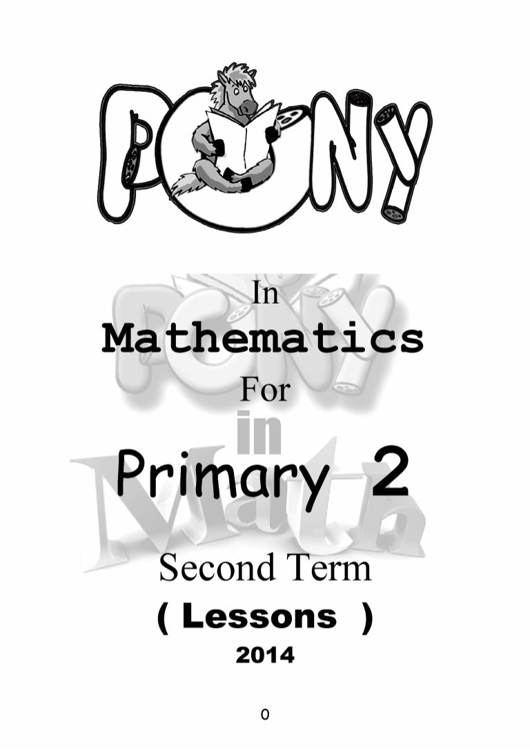 G2 t2 lessons Pony in Maths – Primary 2 Maths Worksheets