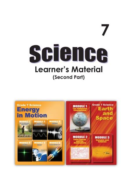 G7 science student modules 3rd & 4th qrtr