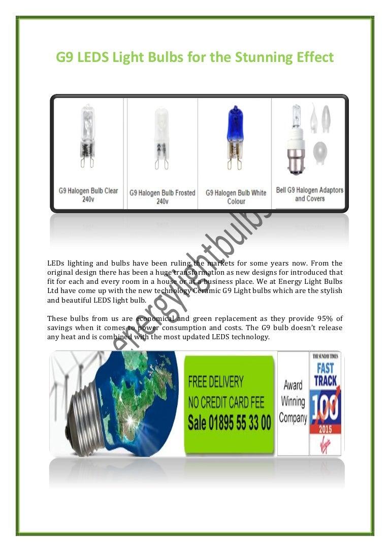 G9 LEDS Light Bulbs for the Stunning Effect:,Lighting