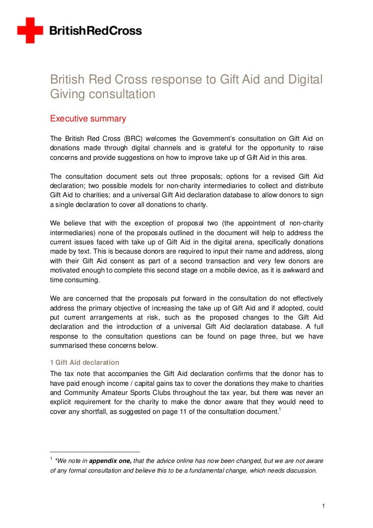 Red cross gift aid and digital our response to the government consult negle Gallery