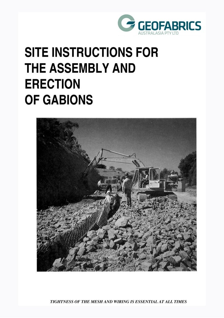 Gabions Installation Guideline Wiring Tools Ppt