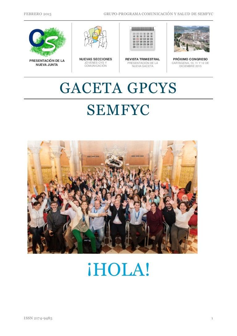 Gaceta gpcys enero 2015