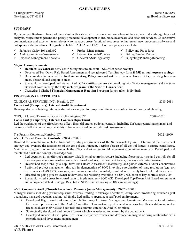 cpa auditor resume