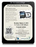 Galax iPad Workshop Flier, February 16, 2012 (AM & PM Sessions)