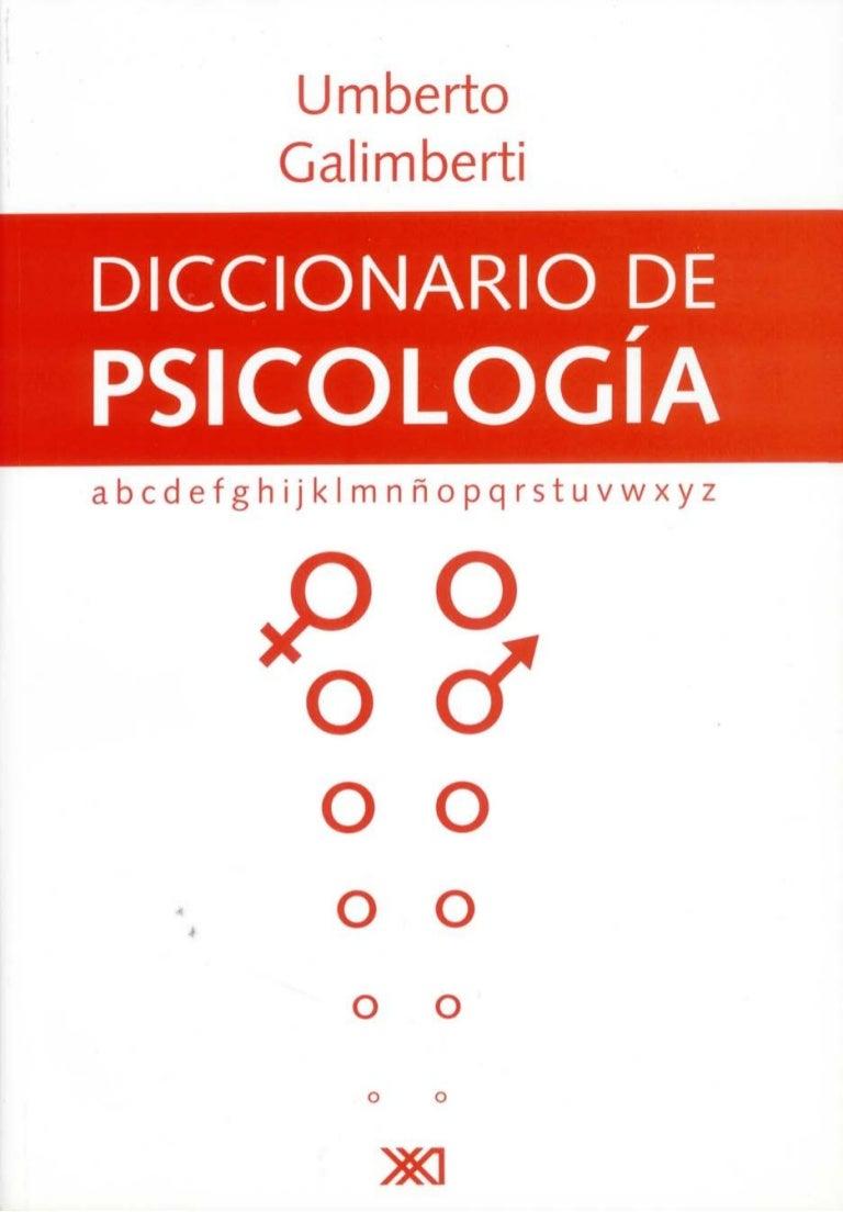 Diccionario de psicología de Umberto Galimberti. PDF