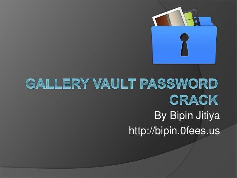 How to open vault app if forgot password