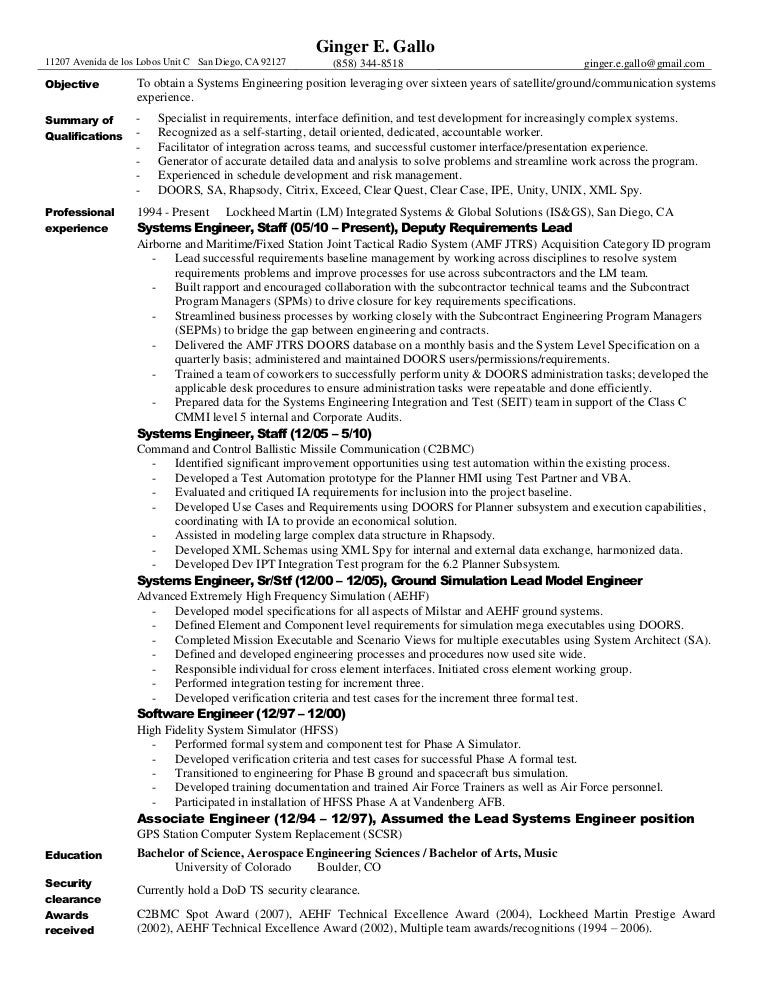 gallo resume pdf