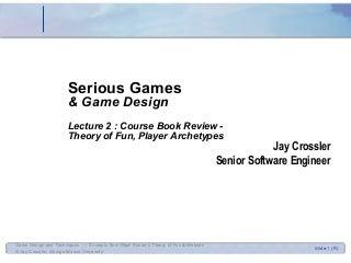 Game Design 2 - Theory of Fun