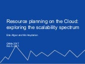 Resource planning on the (Amazon) cloud