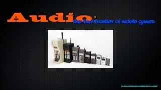 Game Audio in Mobile Development
