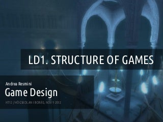 Game Design - Lecture 1