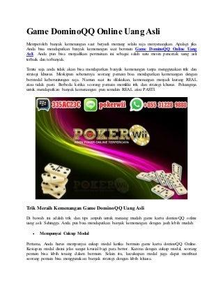 Game domino qq online uang asli