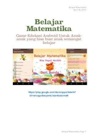 Game Edukasi Android Belajar Matematika