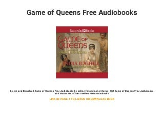 Game of Queens Free Audiobooks
