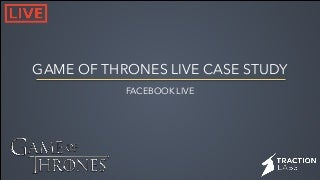 Game of Thrones Live Stream Marketing Case Study