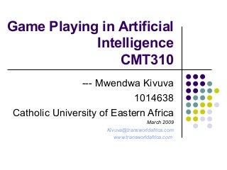 Game Playing in Artificial Intelligence