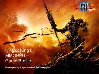 Game profile _ King of king III MMORPG