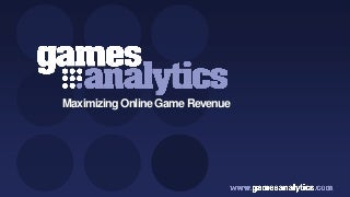 Games Analytics