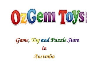 Game, Toy and Puzzle Store