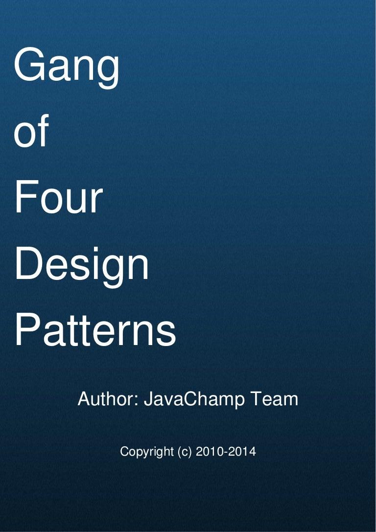 Gang Of 4 Design Patterns Magnificent Inspiration Ideas