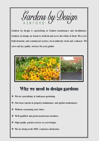 Garden maintenance ashford