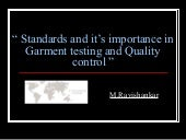 Garment testing-and-quality-control