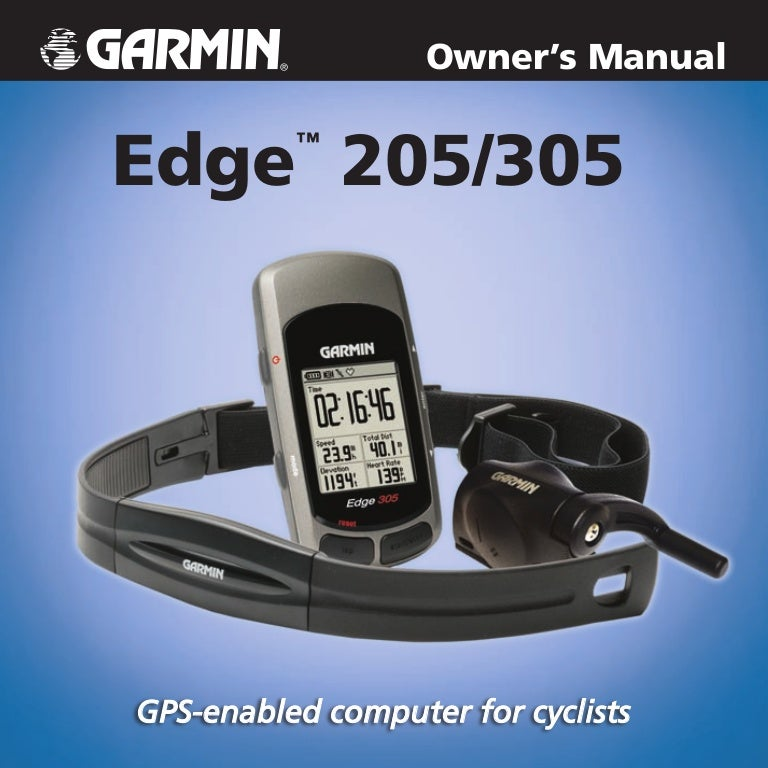 Garmin edge 305 gps with cadence sensor.