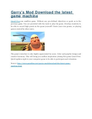 Garrys mod download the latest game machine