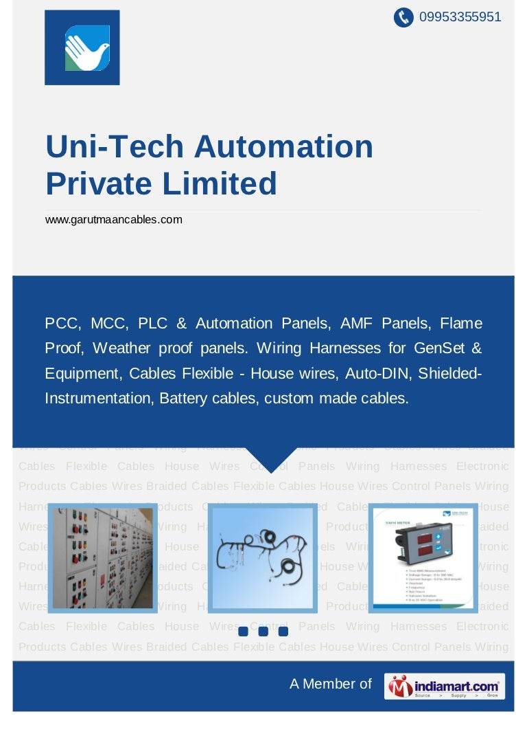 Uni Tech Automation Private Limited Pune Control Panels Braided Wire Harness