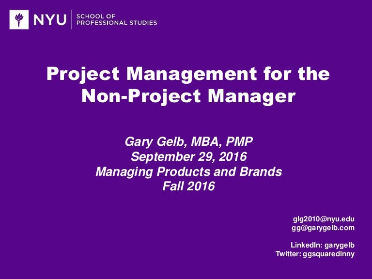 Project Management For The Non Project Manager
