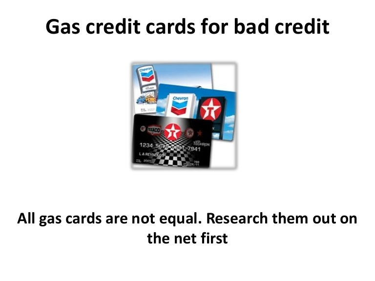 Gas Credit Cards For Bad Credit And Credit Repair