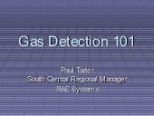 Gas detection 101