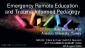 Emergency Remote Education and Trauma-Informed Pedagogy