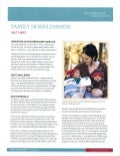 Gates Family Homelessness Fact Sheet