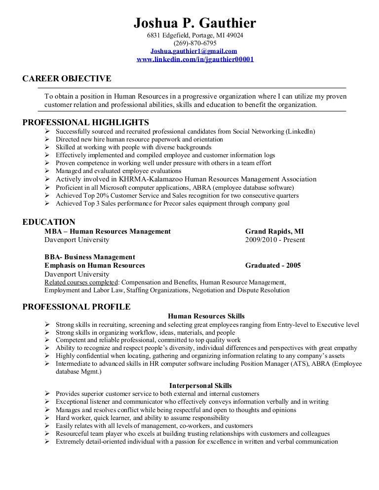 SlideShare  Human Resource Entry Level Resume
