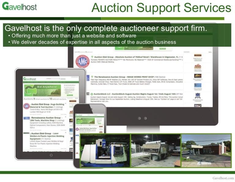 Gavelhost Auction Support Services Portfolio