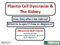 Plasma Cell Dyscrasias & The Kidney (How they affect the kidney? When to suspect? How to diagnose?)