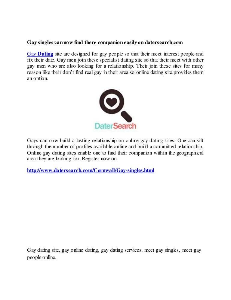 Gay online meeting sites