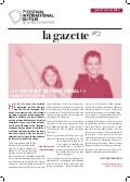 Gazette 3. Festival international du Film.