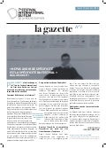 Gazette 1 Festival international du film. 2016