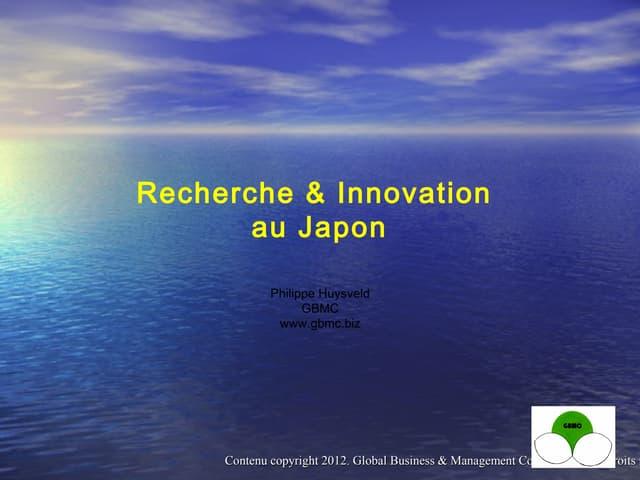 GBMC Presentation - Innovation au Japon - Philippe Huysveld