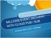 MILLIONS EVENT DELIVERY WITH CLOUD PUB / SUB